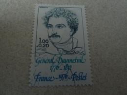 Général Daumesnil (1770-1832) Empire Bonaparte - 1f.+20c. - Bleu-vert, Bleu Et Turquoise - Oblitéré - Année 1976 - - Gebraucht