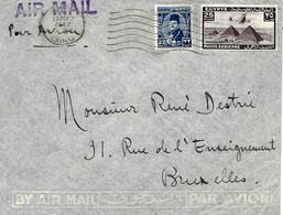 1947 Lettre De Le Caire Avec Flamme Vers Bruxelles. Cover - Briefe U. Dokumente