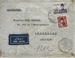 1947 Lettre De Shepheard's Hotel, Cairo Vers Bruxelles. Cover - Briefe U. Dokumente