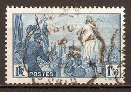 1936 - Rassemblement Universel Pour La Paix, à Paris 1f.50 Bleu - N°328 - Oblitérés