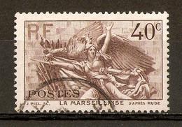 1936 - Marseillaise De Rude - Arc De Triomphe 40c. Brun N°315 - Oblitérés
