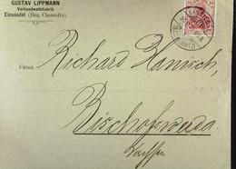 DR: Brief Mit 10 Pf Germania 26.1.1902 Von Gustav Lippmann Verbandwattefabrik Einsiedel (Bez. Chemnitz) Knr: 71 - Brieven En Documenten