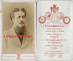 CDV Homme à Identifier-port Aristocratique-photo Schemboche De S. M Le Roi D'Italie-correspondant De Nadar-Florence - Anciennes (Av. 1900)