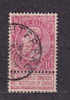 [58_0022] Zegel 58 Met Cirkelstempel Wachtebeke Scan Voor- En Achterzijde - 1893-1900 Barba Corta