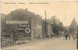 LOT_DCP0022 BACONFOY Carte Tres Beau Et RARE - Hotel LALOUX-DUMONT - TEXACO OIL GARAGE VALLEE DE L'OURTHE 1925 - Tenneville