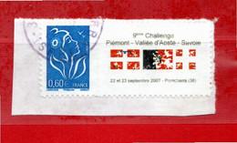 Personalisés - Lamouche - Yvert. 3966A. Vignette Challenge Piemont-Vallée D'Aoste-Savoie -Pontcharra 2007. Oblitérés. - Personalized Stamps