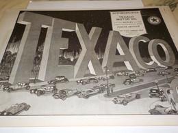 ANCIENNE PUBLICITE MOTOR OILS  TEXACO   1924 - Sonstige