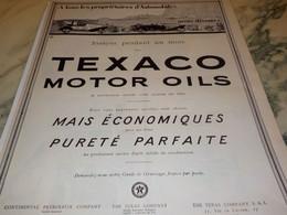 ANCIENNE PUBLICITE ESSAYEZ  PENDANT UN MOIS HUILE TEXACO   1924 - Sonstige