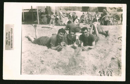 1773 - Young MEN In Old Victorian Swimsuit At The Mar Del Plata Beach - Photo Postcard 1920's - Anonyme Personen