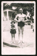 1780 - Happy GIRL And MAN In Swimsuit - Photo Postcard 1940's - Anonyme Personen
