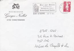 BOURGOGNE GEORGE NOELLAT. FRANCE ENVELOPPE COMMERCIAL. CIRCULEE 1994, BAR SUR SEINE A LA CHAPELLE ST LUC.- LILHU - Briefe U. Dokumente