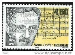 N° 3163  Henri Collet, Faciale 4,50F - Ungebraucht