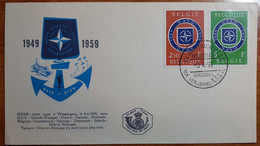 BELGIO 1959 FDC NATO - 1951-60