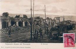 Cpa VALPARAISO Despues Del Terremoto - El Mercado - Chili