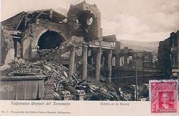 Cpa VALPARAISO Despues Del Terremoto - Templo De La Merced - Chili