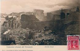 Cpa VALPARAISO Despues Del Terremoto - Avenida Brasil - Chili