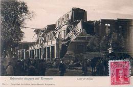 Cpa VALPARAISO Despues Del Terremoto - Liceo De Ninas - Chili
