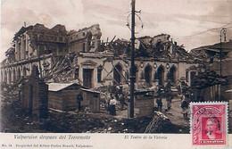 Cpa VALPARAISO Despues Del Terremoto - El Teatro De La Victoria - Chili