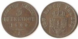 Brandenburg-Preussen 3 Pfennig 1869 A - Wilhelm I. 1861-1888  (p815 - Groschen & Andere Kleinmünzen