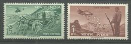 India 1963 Mi 354-355 MNH  (ZS8 IND354-355) - Erste Hilfe