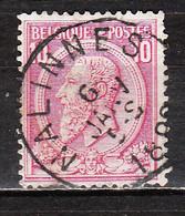 46  Oblitération Centrale NALINNES - LOOK!!!! - 1884-1891 Leopoldo II