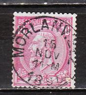 46  Oblitération Centrale MORLANWELZ - LOOK!!!! - 1884-1891 Leopoldo II