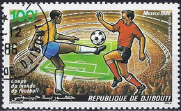 Djibouti 1986 - Mi 462 - YT Pa 225 ( World Cup Football, Mexico ) - Djibouti (1977-...)