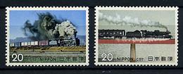 Japon ** N° 1134/1135 - Locomotives à Vapeur - Neufs