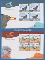 ALDERNEY AURIGNY 2007 BIRDS PASSERINES. COMPLETE BOOKLET PANES  EX- SB 17  S.G. 316-321  U.M.  N.S.C. - Alderney