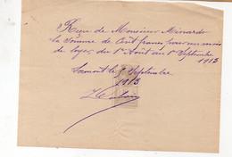 Lormont (33 Gironde) Reçu Pour Un Loyer 1913 Avec Timbre Fiscal 10c (PPP32686) - 1900 – 1949