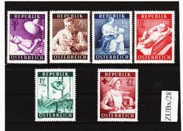 ZUBx/28 ÖSTERREICH 1954 Michl 999/04 ** Postfrisch SIEHE ABBILDUNG - 1945-60 Neufs