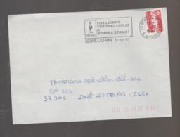 Flamme Dpt 13 : BERRE L'ETANG (SCOTEM N° 12244 Du 01/02/1992 => 31/05/1992) : Vos Loisirs - Vos Spectacles - Oblitérations Mécaniques (flammes)