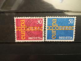 FRANCOBOLLI STAMPS SVIZZERA HELVETIA 1971 USED SERIE COMPLETA COMPLETE EUROPA CEPT OBLITERE' SUISSE - Oblitérés