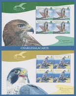 ALDERNEY AURIGNY 2008 BIRDS RAPTORS. COMPLETE BOOKLET PANES  EX- SB 18  S.G. 336-341  U.M.  N.S.C. - Alderney