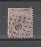 COB 21 Oblitéré Dentelé 14 1/2 X 14 Sans Défaut Cote 175€ - 1865-1866 Profilo Sinistro