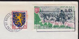 Blason Nevers 15c  Y.et.T.1354 + Débarquement 45c Y.et.T.1799 Sur Enveloppe De 62 BOULOGNE Sur MER 1975 - Briefe U. Dokumente