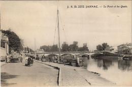 CPA Jarnac Le Pont Et Les Quais FRANCE (1074176) - Jarnac