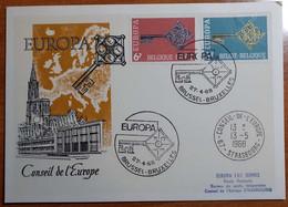 BELGIO 1968 FDC EUROPA CONSEIL DE L'EUROPE - 1961-70