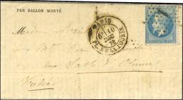 Etoile 1 / N° 29 Càd PARIS / PL. DE LA BOURSE 10 DEC. 70 Sur Gazette Des Absents N° 13 Pour Les Sables D'Olonne, Au Vers - Oorlog 1870