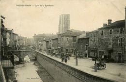 Montbrison * Le Quai De La Porcherie * Marchand Vins En Gros * Pont Passerelle - Montbrison