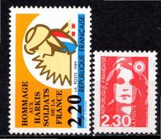 FRANCE 1989 - (**) - N° 2613 Et 2614 - (Lot De 2 Valeurs Différentes) - Ungebraucht