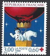 Yv  3039- X-Rouge -Ours Blanc Et Bonhomme De Neige ** - Ungebraucht