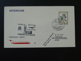 Lettre Premier Vol First Flight Cover Copenhagen --> Leipziger Messe 1973 Interflug Ref 102067 - Briefe U. Dokumente