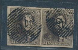 BELGIUM COB 1 NICE PAIR WITH LARGE MARGINS USED P24 - 1849 Mostrine