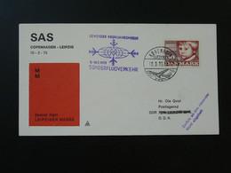 Lettre Premier Vol First Flight Cover Copenhagen --> Leipziger Messe 1973 SAS Ref 102094 - Briefe U. Dokumente