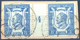 France N°209, Paire Millésime 4 - Oblitéré - (F362) - Gebraucht