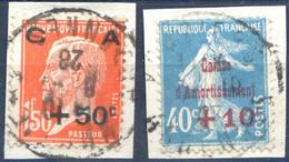 France N°246 Et 248 Sur Fragment - (F363) - Gebraucht