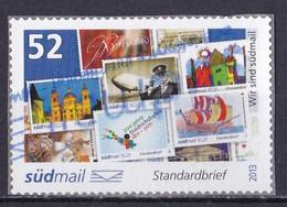 BRD Privatpost Südmail (52 Cent) Wir Sind Südmail (A1-23) - Private & Local Mails