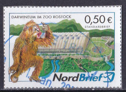 BRD Privatpost Nord Brief (50 Cent) Darwineum Im Zoo Rostock (A1-23) - Private & Local Mails