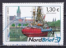 BRD Privatpost Nord Brief (130 Cent) Feuerschiff Fehmarnbelt Lübeck (A1-23) - Private & Local Mails